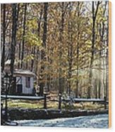Where Fall Meets Winter Wood Print by Jennifer Compton