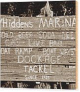 Whiddens Marina 1925 Wood Print