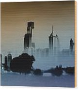 While The City Sleeps Wood Print by Bill Cannon