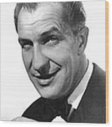 While The City Sleeps, Vincent Price Wood Print