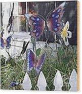 Whimsical Window Wood Print