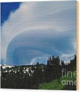 Whirling Clouds  Wood Print