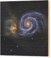 Whirlpool Galaxy Wood Print