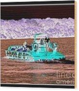 Whirlpool Jet Boat Niagara Falls Inverted Wood Print