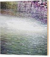 Whirlpool Of Water Suds Wood Print