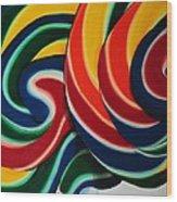Whirly Pop 2 Wood Print