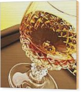 Whiskey In Glass Wood Print