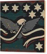Whiskey Rebellion Flag Wood Print