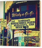Whisky A Go Go Bar On Sunset Boulevard Wood Print
