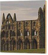 Whitby Abbey Wood Print