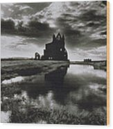 Whitby Abbey Wood Print by Simon Marsden