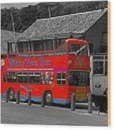 Whitby Tour Bus Wood Print