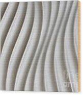 White Artistic Background Wood Print