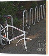 White Bicycle . 7d10119 Wood Print