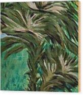 White Bird Of Paradise Tree Wood Print