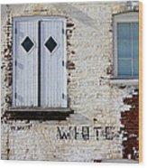 White Brick Wood Print
