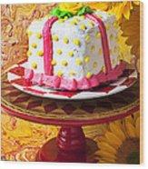 White Cake Wood Print