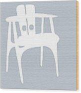 White Chair Wood Print