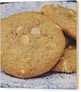 White Chocolate Chip Cookies Wood Print