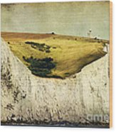 White Cliffs Lighthouse Wood Print