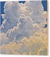 White Clouds Wood Print