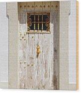 White Door Wood Print by Carlos Caetano
