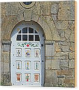 White Door Provence France Wood Print