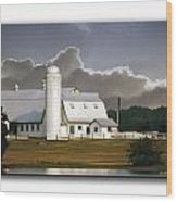 White Farm Wood Print