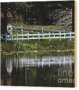 White Fence Wood Print