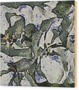 White Geraniums   -- Vangogh Wood Print