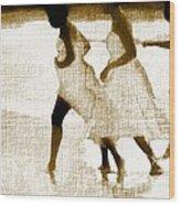 White Linen Wood Print