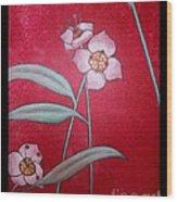 White Lotus Bottom  Wood Print