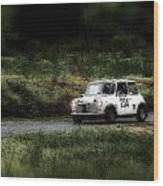 White Mini Innocenti Austin Morris Wood Print
