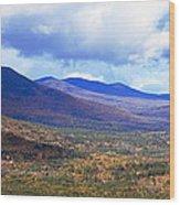 White Mountains Vista Wood Print