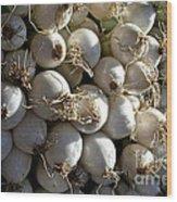 White Onions Wood Print