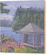 White Pine Camp Tea House Wood Print