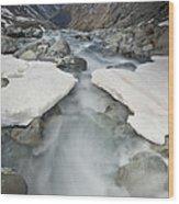White River Rapids Arthurs Pass Np Wood Print