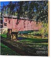 White Rock Bridge Wood Print