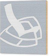 White Rocking Chair Wood Print by Naxart Studio