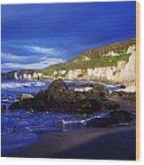 White Rocks Strand, County Antrim Wood Print