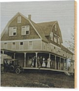 White Roe Boarding House-owner E Keene Prior To My Grandfather. Circ 1900s Wood Print