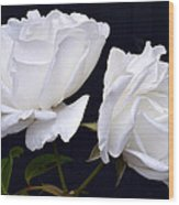 White Rose Twins. Wood Print