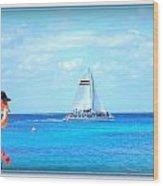 White Sails Wood Print by Danielle  Parent
