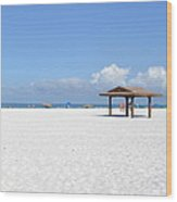 White Sands Of Siesta Crescent Beach Wood Print