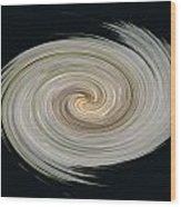 White Spiral Wood Print