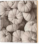 White Squash Wood Print