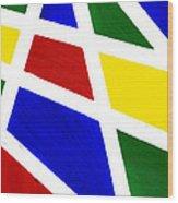 White Stripes 2 Wood Print