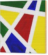 White Stripes 3 Wood Print