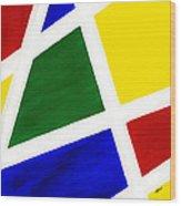 White Stripes 6 Wood Print