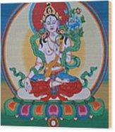 White Tara Wood Print